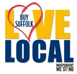 Love Local - Buy Suffolk Independent We Stand logo