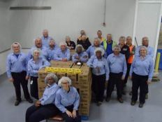 Workers at Lipton pose for photo